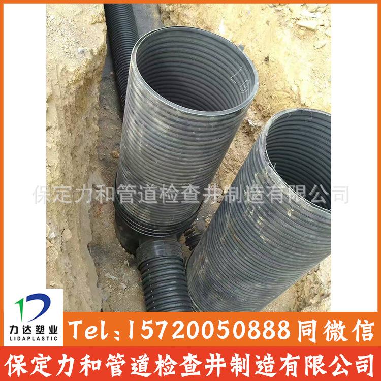 中空壁缠绕管 井壁管 HDPE双平壁缠绕管示例图4
