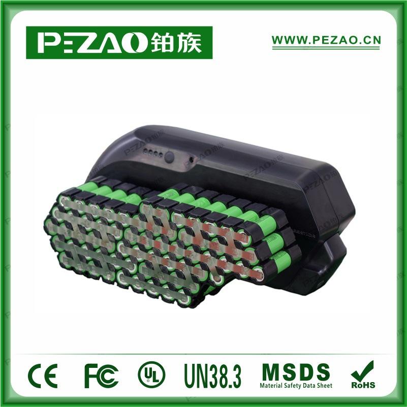 铂族电池 虎鲨款锂自行车电池/锂电车动力电池组/18650锂动力电池组 48V10-17.5Ah电池组示例图4