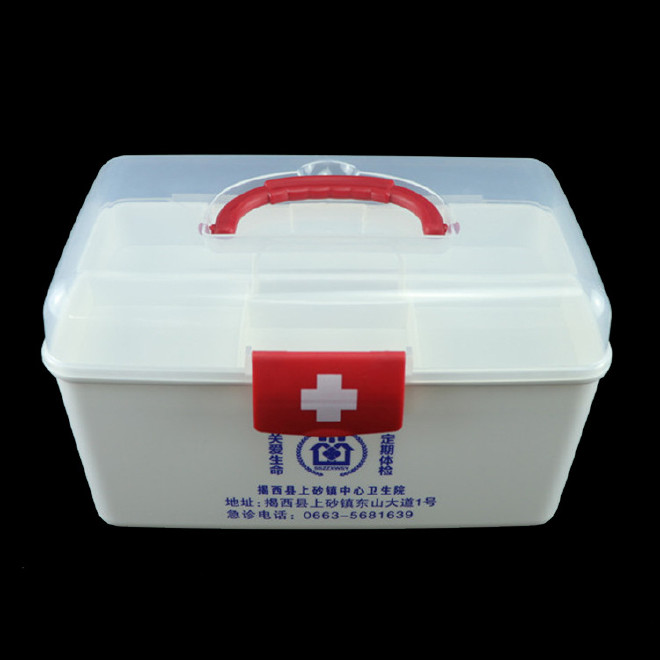 厂家直销塑料药箱 家用药箱 药品收纳箱手提箱药房赠品扶贫保健箱示例图37