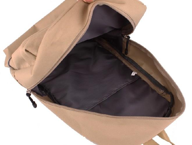 2016新款简约纯色双口袋背包 时尚休闲款运动包学生书包直销示例图37