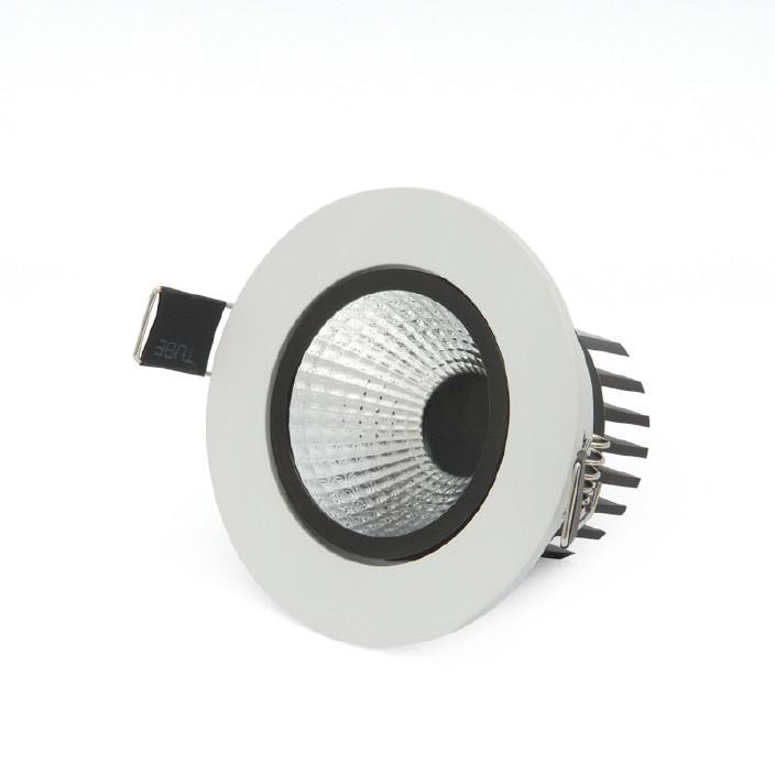 LED筒灯COB外壳3W5W 最新天花防雾灯COB光源吊顶孔灯洞灯高亮筒灯