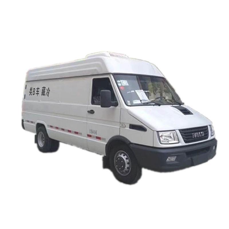 長軸依維柯冷藏車后雙輪柴油面包冷藏車價格依維柯商務冷藏車廠家