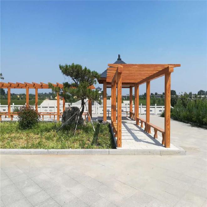 水泥廊架 混凝土仿木纹走廊 水泥仿木葡萄架 植物架 厂家批发图片