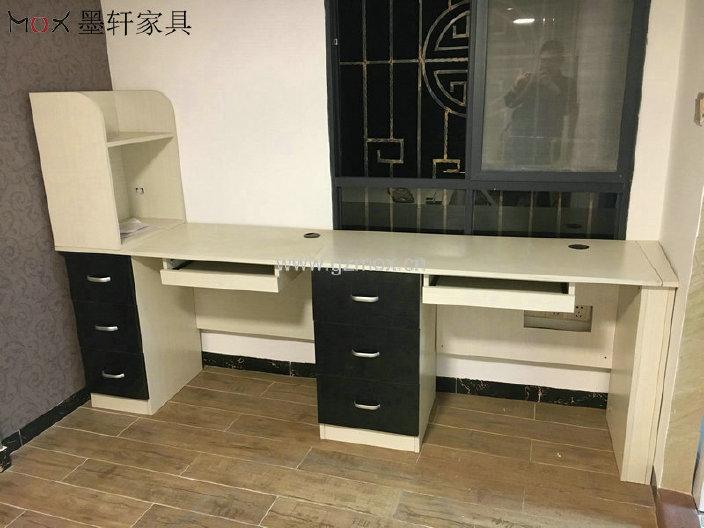 带书柜的简易书桌 带书柜的书桌 家用电脑桌 双人书桌