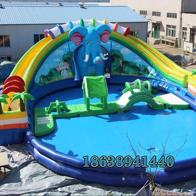 移动大型户外  加厚充气水池PVC  水上乐园充气水池游泳池  儿童户外