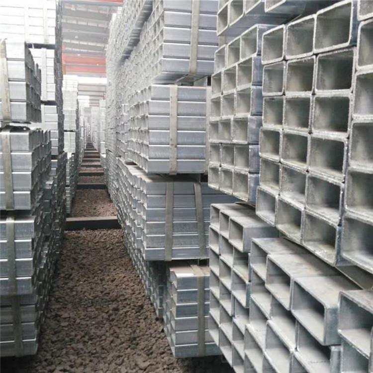 低價銷售鍍鋅方管 方通 Q235幕墻方管大量庫存規格齊全