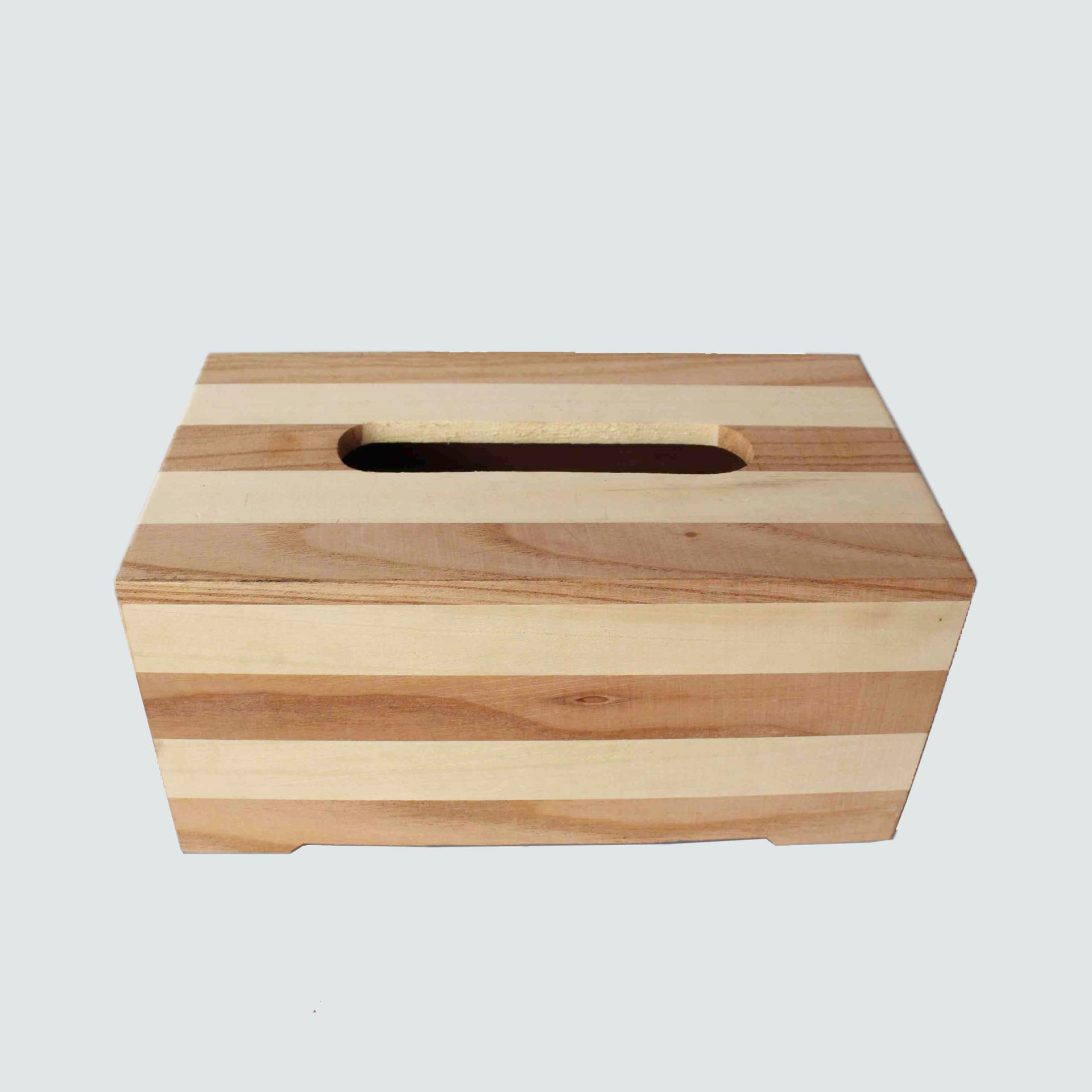 抽纸盒 木质条纹纸巾盒客厅卧室办公室通用抽取式纸巾盒可定制