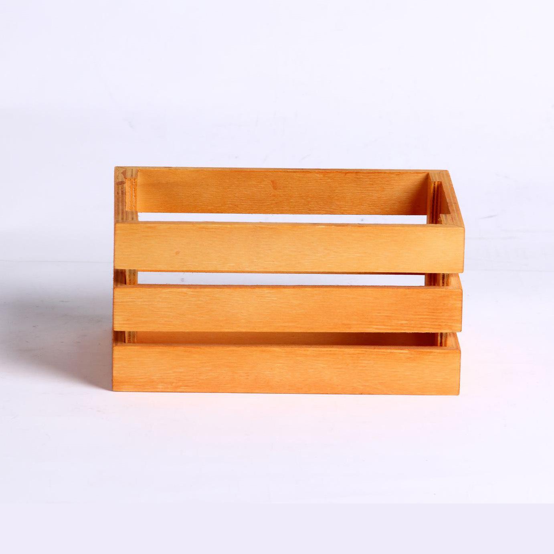 厂家直销批发木制收纳筐 杂物收纳盒 水果木箱