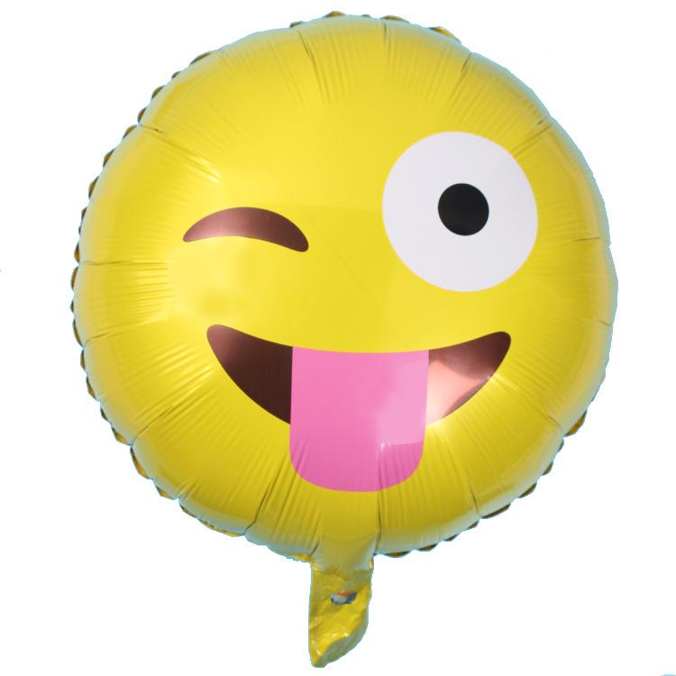 【新品emoji气球铝膜飞吻调皮a新品表情表情图片v新品春节早晚表情包图片