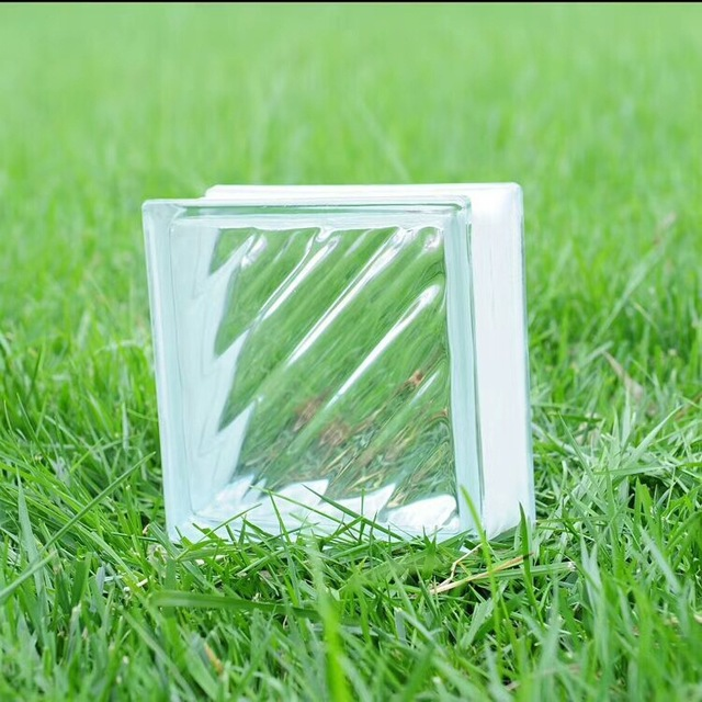 供應隔熱空心玻璃磚 云霧紋透明衛生間玄關玻璃墻磚沙河廠家直銷