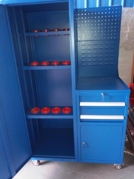 厂家直销 刀具柜定制 海门刀具柜 钢制推拉式刀具柜 仓库刀具柜图片