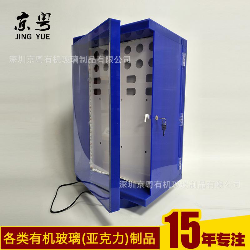 工廠訂做 旋轉發光手機充電器展示架 3C數碼產品小展柜加工定制示例圖6