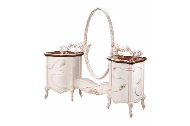 拉卡萨窗帘lacasa实木梳妆台梳妆镜家具梳妆台家具飘带原木色搭配什么图片
