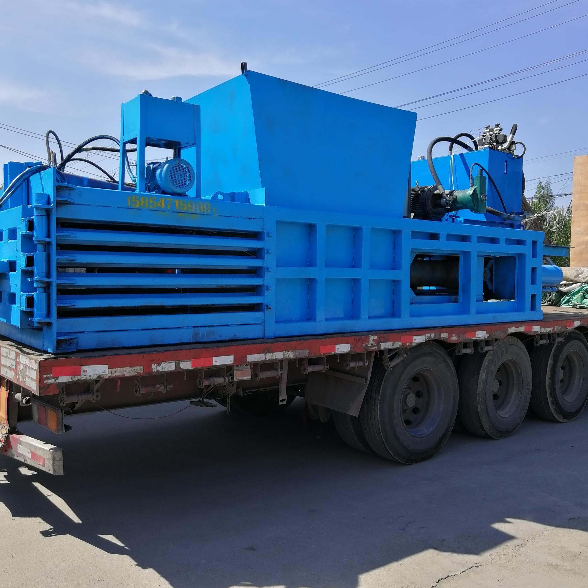 優質明宇熱銷120噸全自動臥式液壓打包機 廢紙箱臥式打包機