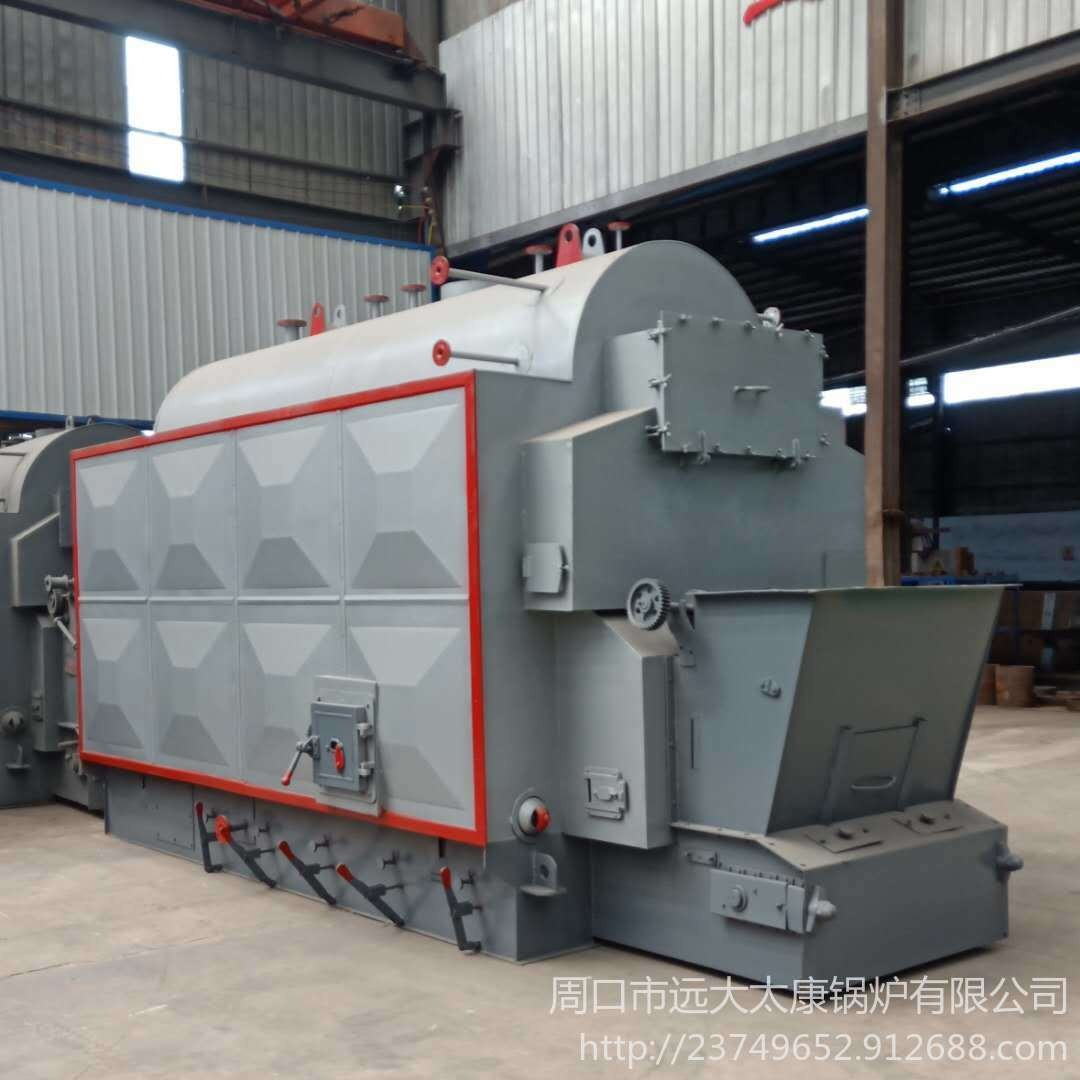 廠家直銷 新型三回程生物質顆粒蒸汽鍋爐、6噸臥式鍋爐