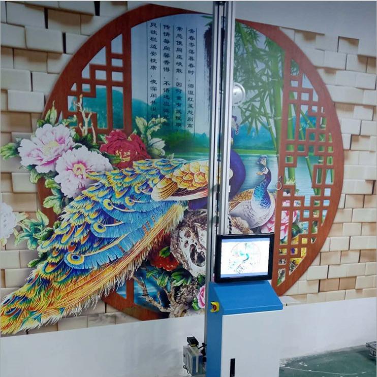 墙体3d彩绘机 立体式墙体户外彩绘机 墙体浮雕壁画彩绘打印机厂家