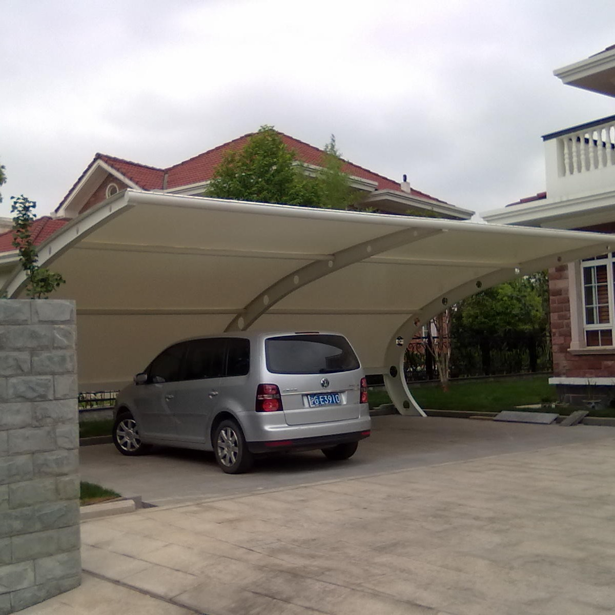 厂家定制膜结构车棚 充电桩膜结构车棚 充电站膜结构停车棚汽车篷