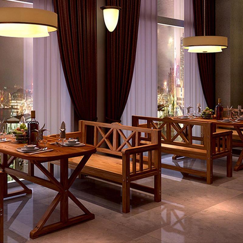 全實木餐桌椅,飯店餐桌,快餐桌椅,靠背餐桌椅定制,海德利家具
