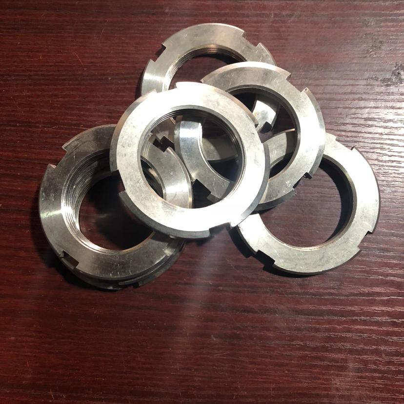 不锈钢 304 圆螺母 各种型号加♀工定制