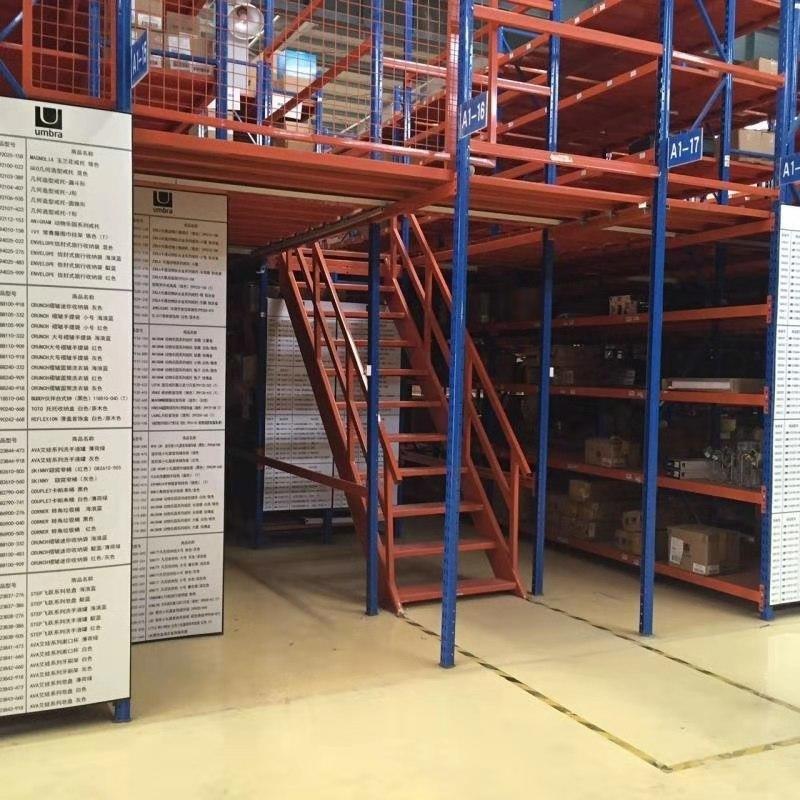 山東貨架鋼平臺 重型 汽車配件雙層貨架 4S店閣樓式貨架廠家 大悅