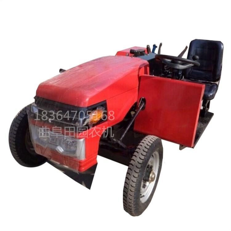 四輪田園管理機微型四輪拖拉機果園用開溝除草機果園管理機圖片