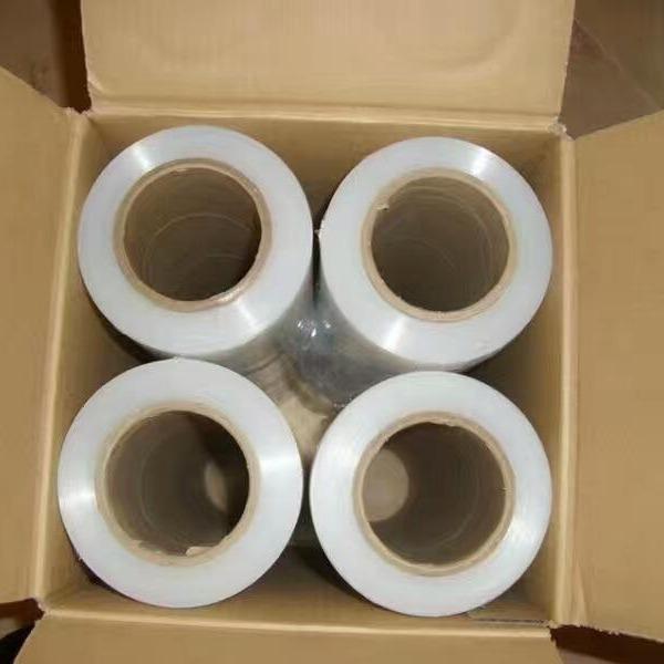云澤50cm pe拉伸膜手用纏繞膜保護膜托盤包裝小紙管膜自粘膜薄膜機用膜保鮮膜