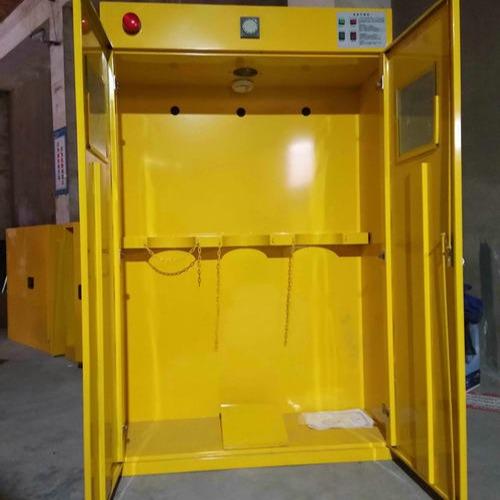 气瓶柜,万致WZLAB全钢单瓶液化气柜,白色单瓶二代报警器工业气瓶柜
