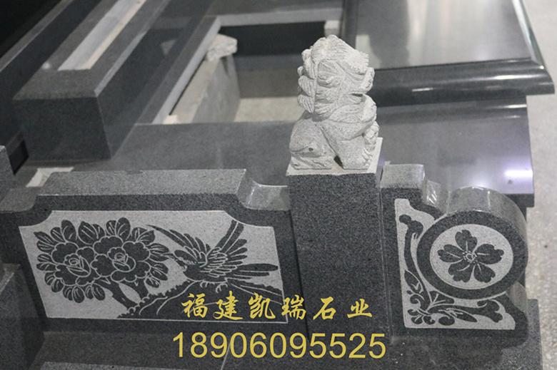 福建凯瑞石业直销芝麻黑墓碑 城市公墓墓碑 传统墓碑造型可支持定制示例图9