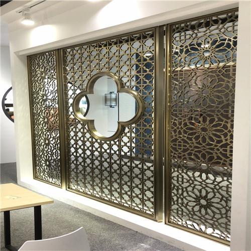 工程专用仿木纹铝窗花 铝窗花价格 仿木铝窗花厂家示例图2