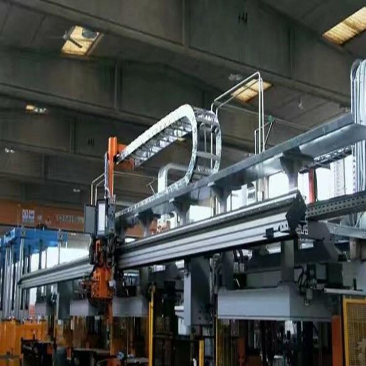 厂家定做钢制拖链 耐腐蚀钢铝拖链渗碳处理 机床穿线缆全封闭拖链示例图5