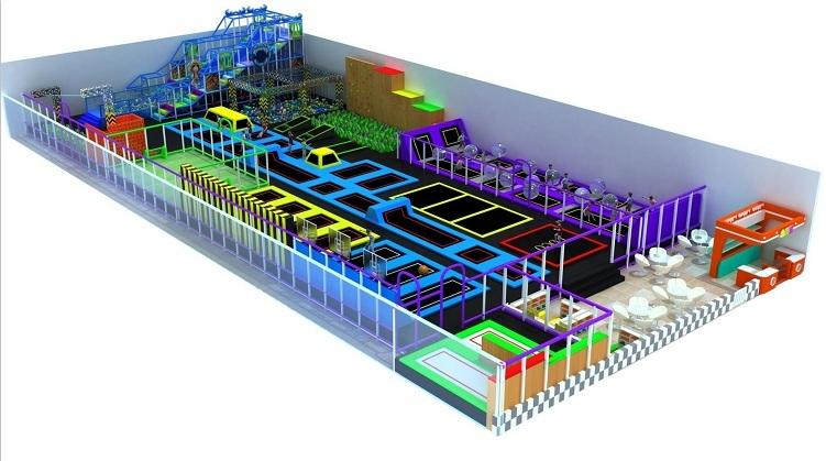 大型室内体能概念主题综合体儿童乐园,小勇士体验式儿童乐园,网红项目儿童乐园示例图7