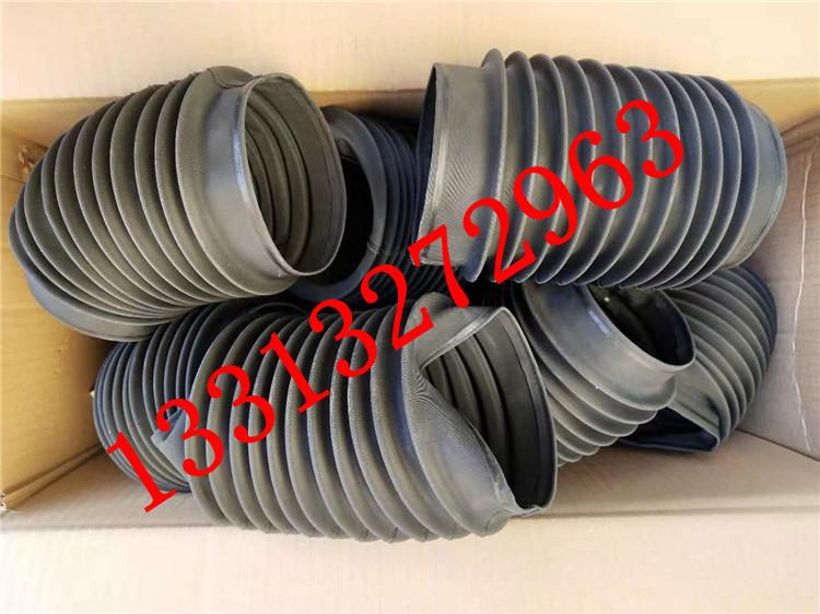 圆筒伸缩式丝杠防护罩 油缸圆形防尘罩 气缸光轴保护套 伸缩式圆形防护罩可以水平或垂直使用示例图4