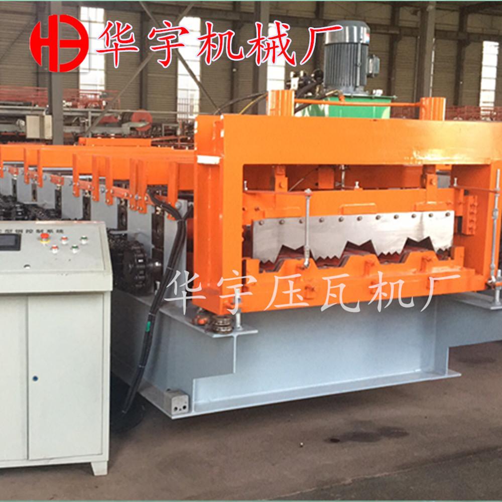 华宇楼承板机厂家 供应100/1025楼层板机 楼板成型设备 钢结构承重板成型机示例图10