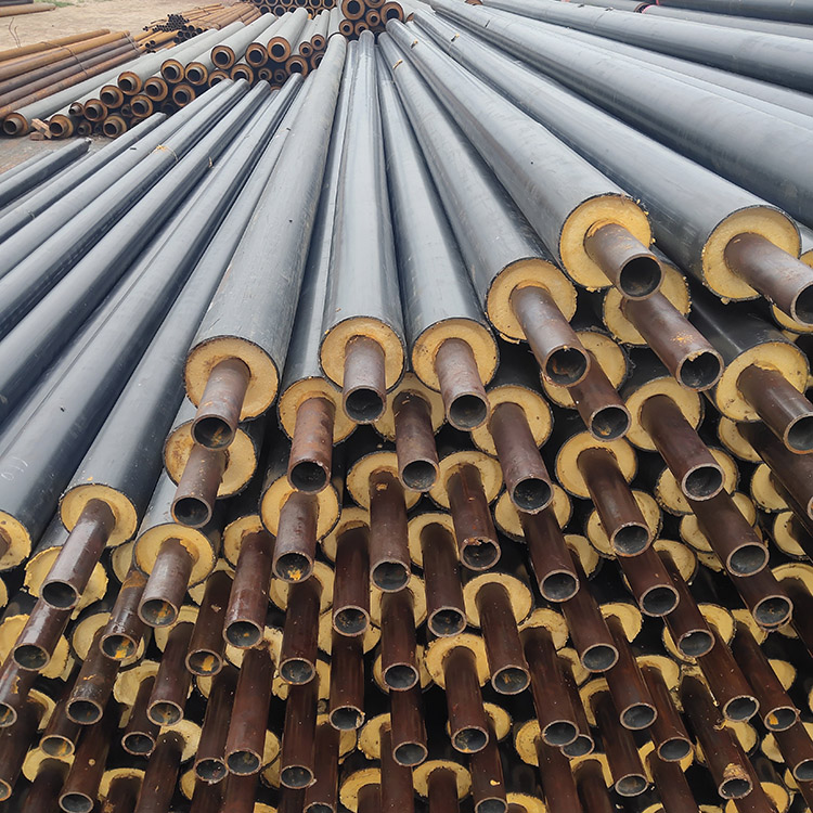 法兰式矿用聚氨酯保温管 黑夹克保温管 鼎固 发泡聚氨酯保温钢管 现货批发