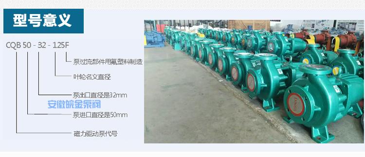 CQB-FJ氟塑料磁力泵,防腐蝕耐酸堿磁力驅動泵,襯氟高溫磁力泵,磁力離心泵示例圖5