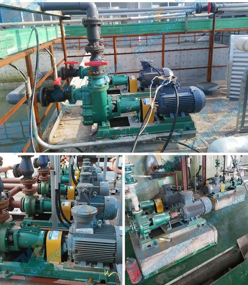 IHF80-65-125D离心泵 卧式单级 叶轮闭式 氟塑料化工泵 腾龙批发示例图14