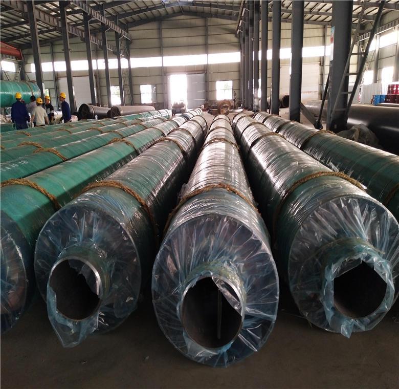 钢套钢直埋保温钢管 供暖用聚氨酯保温钢管 预制聚氨酯保温管厂家示例图3