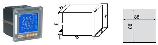 安科瑞多功能電力諧波儀表ACR330ELH 2-63次各次諧波測量示例圖8