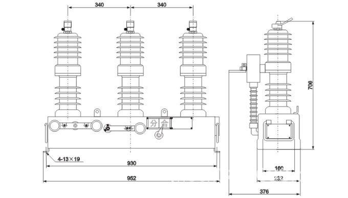 10KV高压真空断路器ZW32-12/630A示例图10