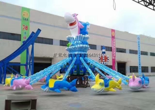 儿童12座迷你飞椅游乐设备 旋转飞椅大洋游乐厂家专业定制生产示例图45