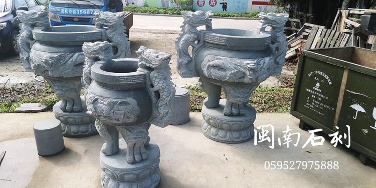 厂家批发 石雕香炉 龙图案香炉 寺庙香炉 墓地香炉厂家直销示例图16