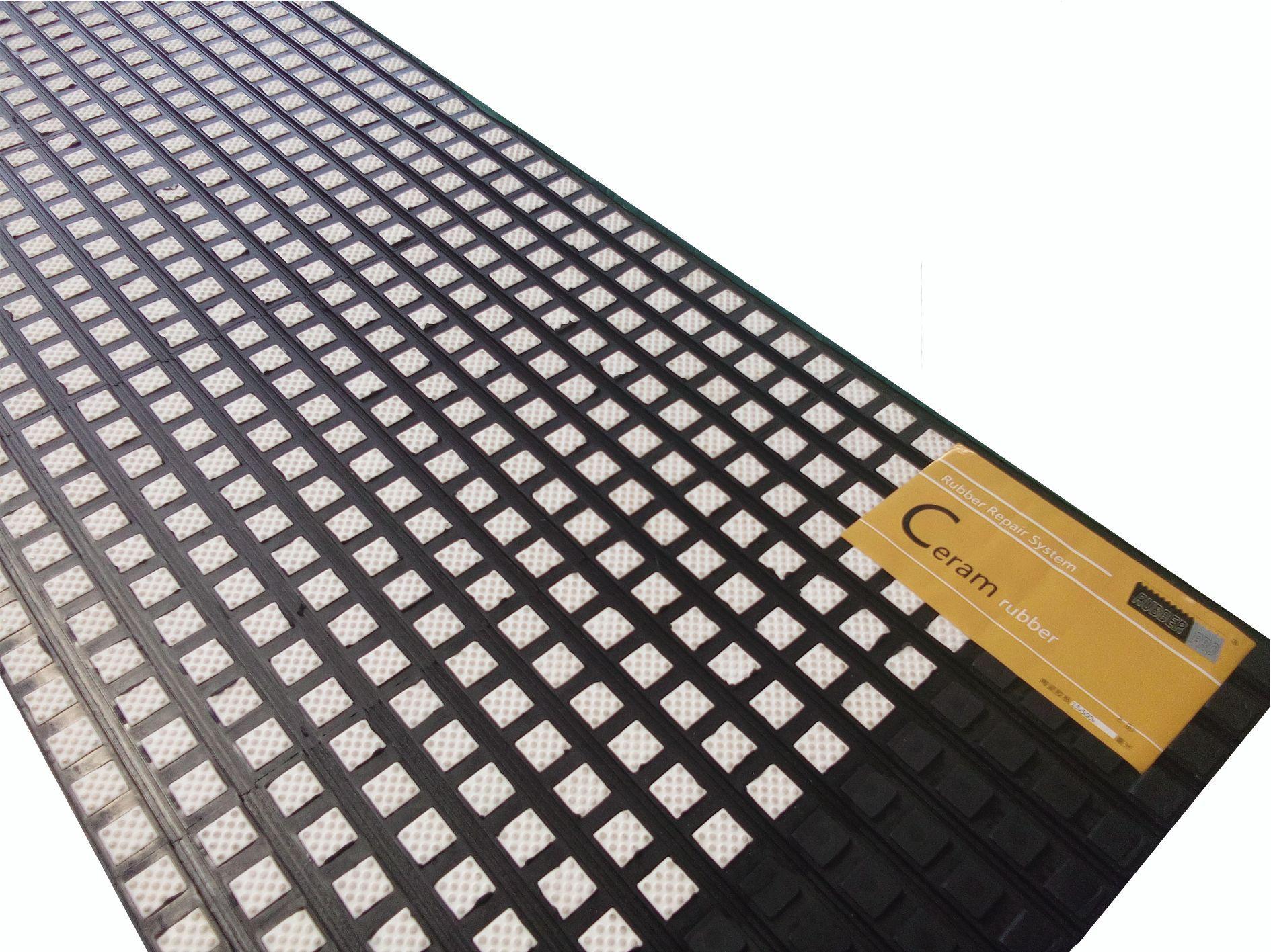 广西港口皮带机驱动陶瓷包胶板,冷粘式耐磨型陶瓷包胶板示例图1