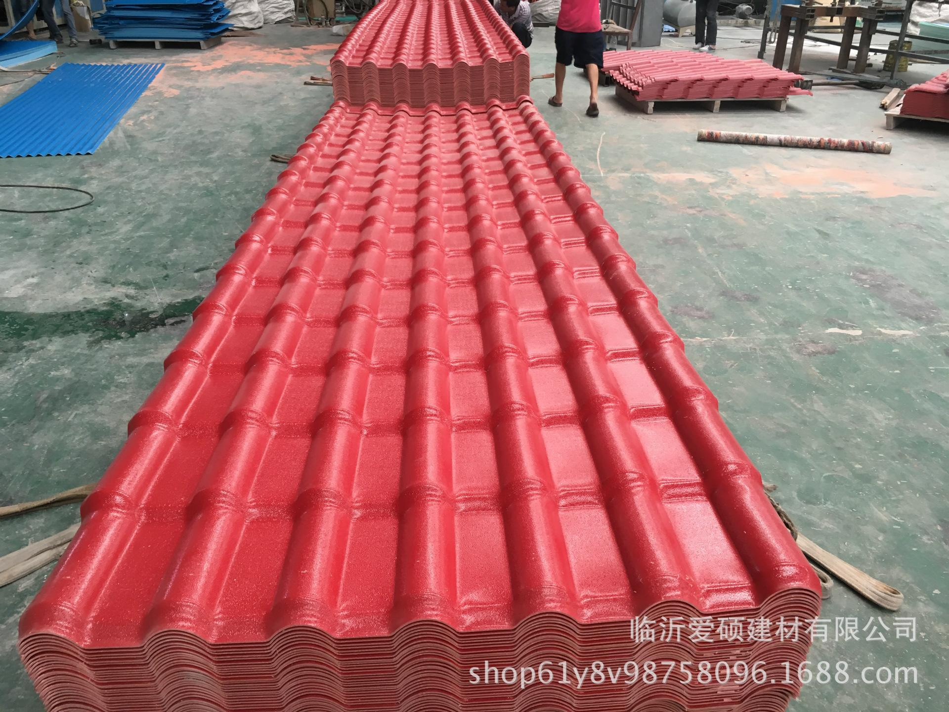 廠家直銷 東營合成樹脂瓦 平改坡裝飾瓦 屋頂瓦 別墅瓦示例圖10