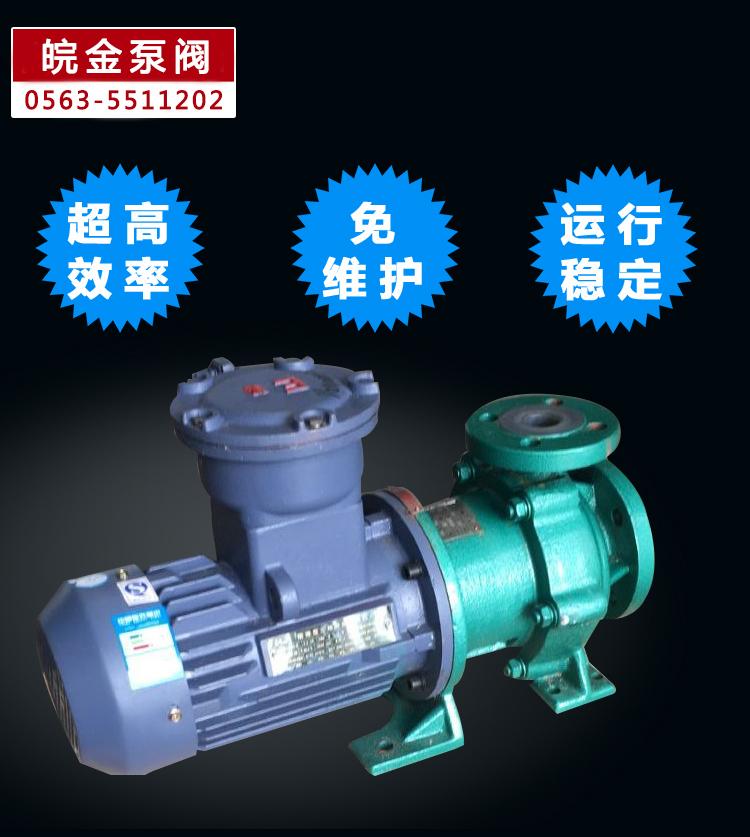 CQB-FJ氟塑料磁力泵,防腐蝕耐酸堿磁力驅動泵,襯氟高溫磁力泵,磁力離心泵示例圖12
