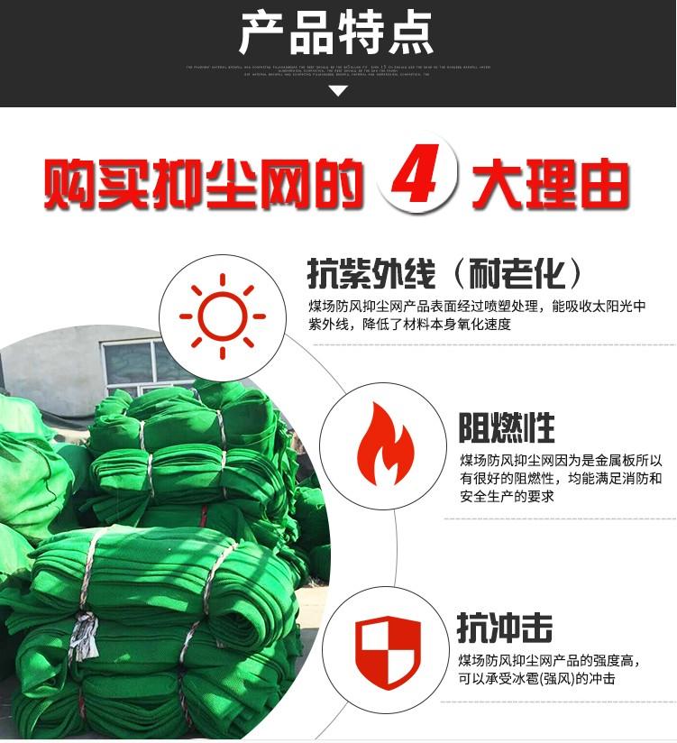 尼龍柔性防風網,防風屏障,煤場擋風墻,煤場防風防塵屏障示例圖3