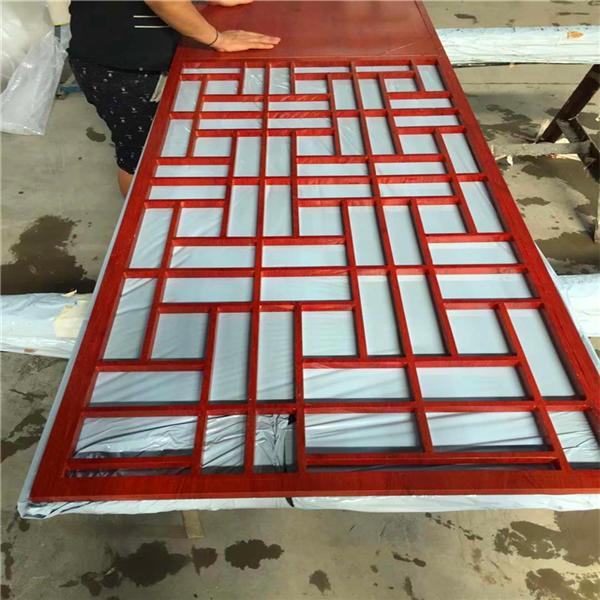 中式铝合金花窗 儿童防护栏窗花 艺术围栏封阳台窗户内置无焊接示例图3