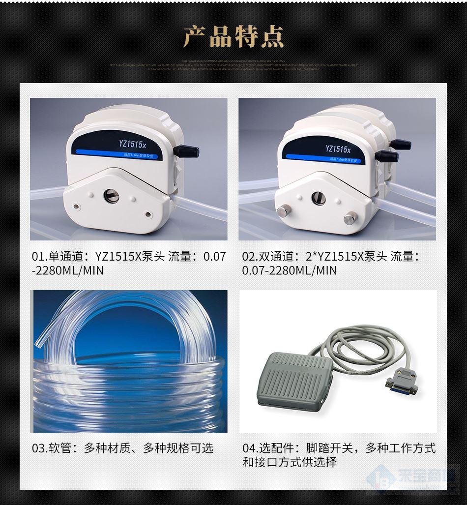 实验室蠕动泵 价格便宜 欧莱博 BT600FC蠕动泵 *示例图1
