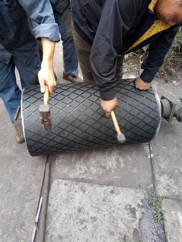 滚筒包胶专用冷硫化胶板厂家 冷粘菱形胶板厚度参数示例图17