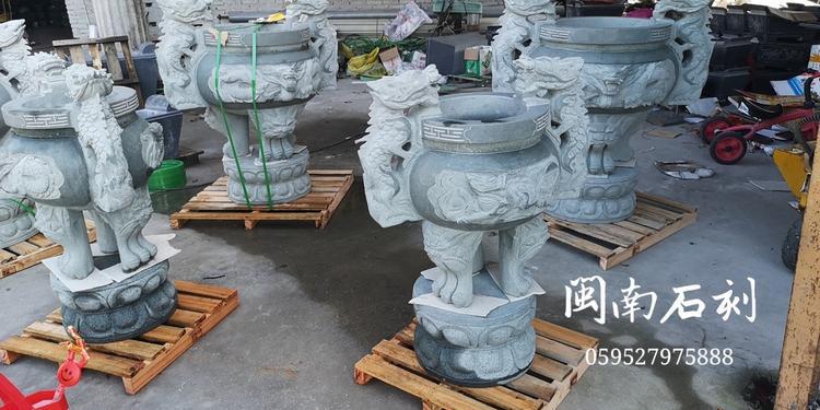 厂家批发 石雕香炉 龙图案香炉 寺庙香炉 墓地香炉厂家直销示例图15