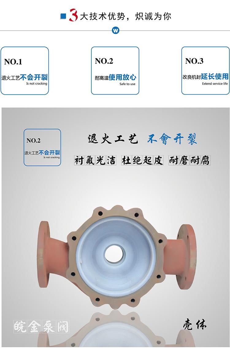 皖金氟塑料管道泵,50GD-20F型防腐蝕耐酸堿立式管道泵,化工泵襯四氟離心泵,工業增壓泵生產廠家示例圖12